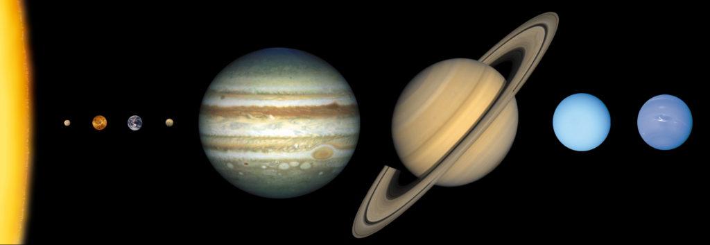 Die Erde im Sonnensystem