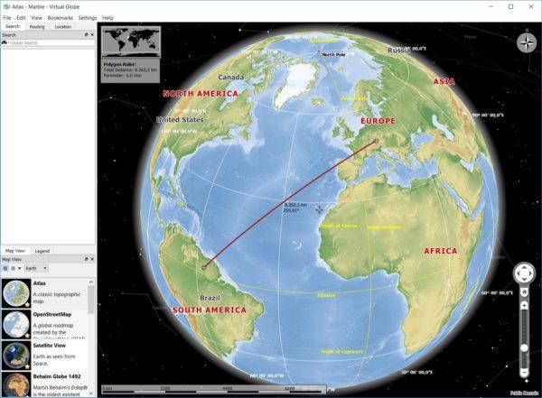 Distanzberechnung mit KDE Marble
