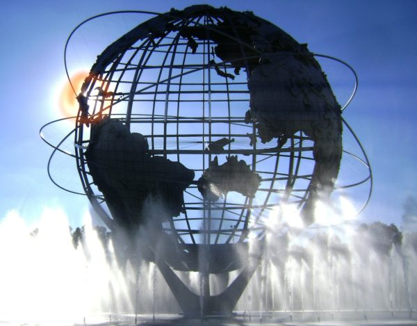 "Unisphere - der 36m große ""Globus"" in New York City"